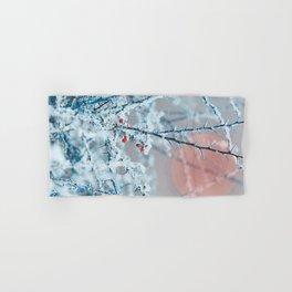 Snowy twigs and berries Hand & Bath Towel