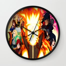 shinobi world war Wall Clock
