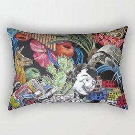 Ecuador Mural Rectangular Pillow