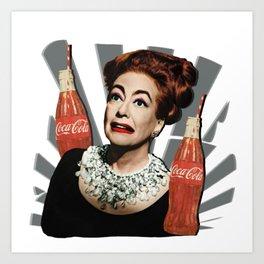 Joan Crawford Coca-Cola Art Print