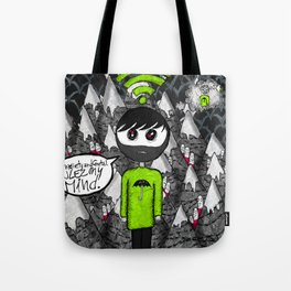 "Psychic syndromes : ""Thought insertion syndrome"" by Anxiety and Gretel Tote Bag"