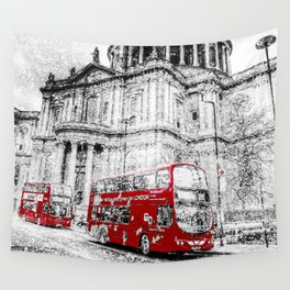 St Paul's Cathedral London Snow Wall Tapestry