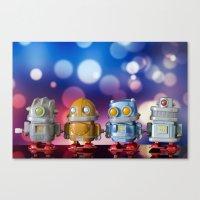 robots Canvas Prints featuring Robots by Pedro Nogueira