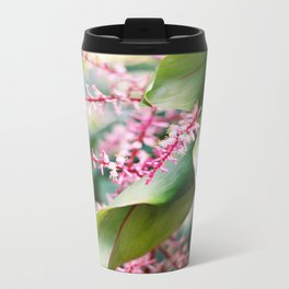 Tropical Rio Flower Metal Travel Mug