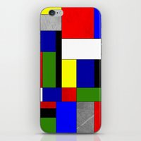 mondrian iPhone & iPod Skins featuring Mondrian #4 by Ron Trickett
