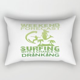 WEEKEND FORECAST SURFING Rectangular Pillow