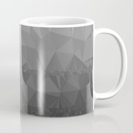 Black and Grey Ombre - Flipped Coffee Mug