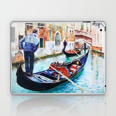 Gondolas on the Canals of Venice, Italy Laptop & iPad Skin