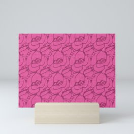 Roses pattern pink Mini Art Print