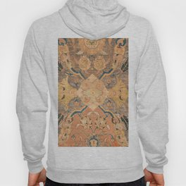 Persian Motif III // 17th Century Ornate Rose Gold Silver Royal Blue Yellow Flowery Accent Rug Patte Hoody