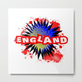 England Comic Exclamation Metal Print