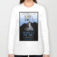 lotr Long Sleeve T-shirts featuring LOTR The Return of the King Minimalist Poster by Sean Breeding Arthouse