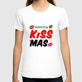 Retro Merry Kissmas Holiday T-shirt