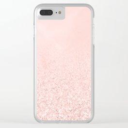Blush Glitter Pink Clear iPhone Case