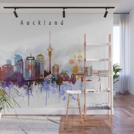 Auckland New Zealand Cityscape Wall Mural