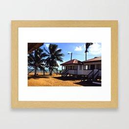 Ruthie's Cabanas Framed Art Print
