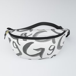 Watercolor G's - Grey Gray Fanny Pack