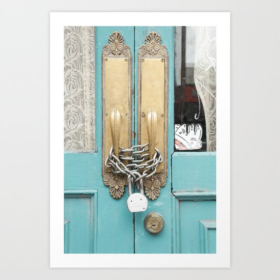 Lock and lace Art Print