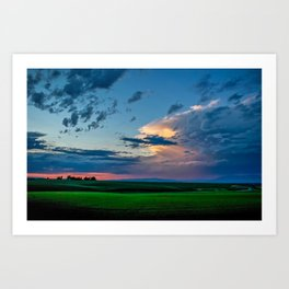 Montana Sunset Art Print