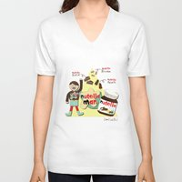 nutella V-neck T-shirts featuring I {❤} NUTELLA by lilycious