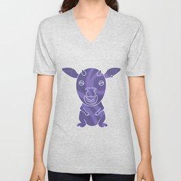 Tiki Cow Unisex V-Neck