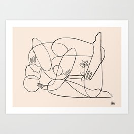 Dreamers no.6 (apricot) Art Print