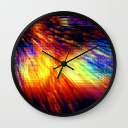 Colorful Geometric Storm Wall Clock