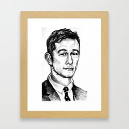 Joseph Gordon-Levitt drawing Framed Art Print