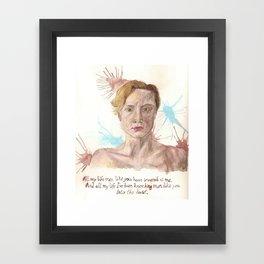 Brienne the Beauty Framed Art Print