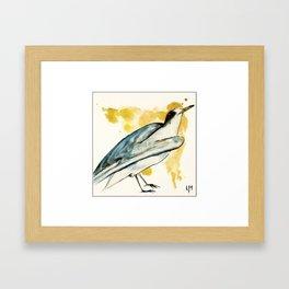 Waiting to Fly Bird Framed Art Print