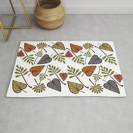 Falling Leaves of Autumn Rug