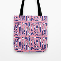kim sy ok Tote Bags featuring OK by Regina Rivas Bigordá