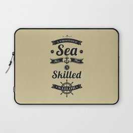 Lab No. 4 - Sailors Inspirational Proverbs Quotes Poster Laptop Sleeve
