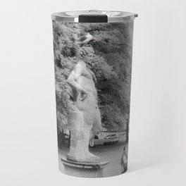statue with seagull Travel Mug