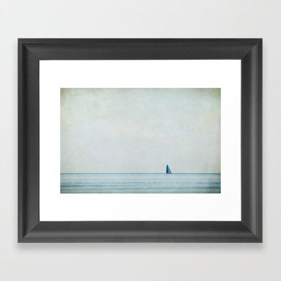 sailing under the big sky Framed Art Print