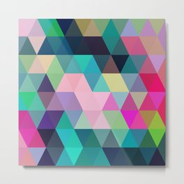 Colorful, Triangular  low poly, mosaic pattern background, Vector polygonal illustration graphic, Cr Metal Print