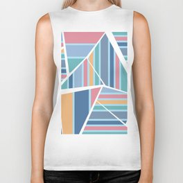CRAZY STRIPES (abstract pattern) Biker Tank