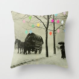 Christmas Day Throw Pillow