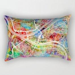 Pittsburgh Pennsylvania Street Map Rectangular Pillow
