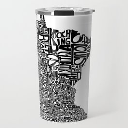 Typographic Minnesota Travel Mug