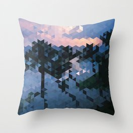 Palm Dawn Throw Pillow