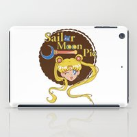 pie iPad Cases featuring Moon Pie by Ashley Hay