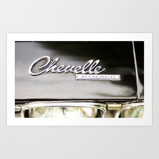 Vintage Chevelle - Cool Retro Chevy Art Print