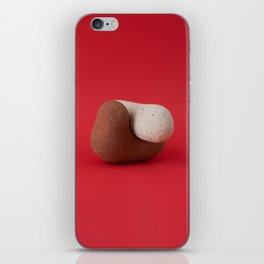 Bricks on Red #1 iPhone Skin
