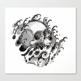 Skull Waves Canvas Print