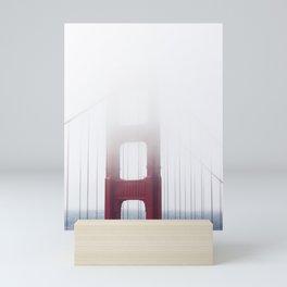 Golden Gate Bridge in Fog Mini Art Print