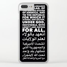 Pledge of Allegiance Clear iPhone Case