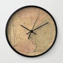 Vintage Long Island City NY Map (1876) Wall Clock