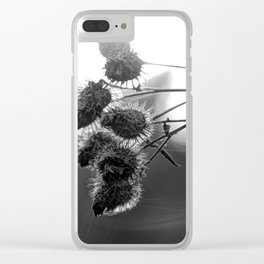Dried burdock Clear iPhone Case