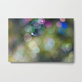 IRIDESCENT COLOURS OF SOAP FILM Metal Print